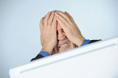 Stressed senior businessman Stock Photo