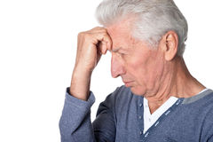 Stressed senior man Stock Images