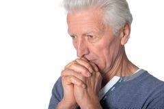 Stressed senior man Royalty Free Stock Images