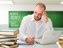 Stressed student Royalty Free Stock Photo