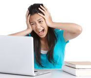 Stressed student Stock Photo
