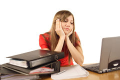Stressed student  Royalty Free Stock Photos