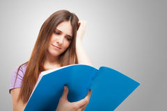 Stressed student Royalty Free Stock Images