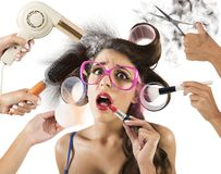 Stressed by style royalty free stock photo