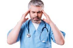 Stressed surgeon. Stock Photography