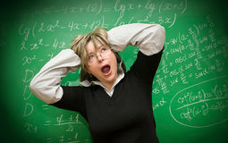 Stressed teacher Royalty Free Stock Images