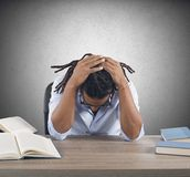 Stressed teacher Royalty Free Stock Photo