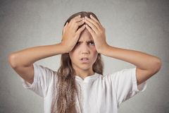Stressed teenager girl Royalty Free Stock Photo