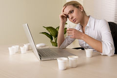 Stressed/Tired Businesswoman Stock Photos