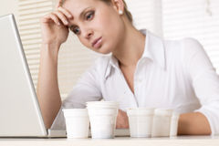 Stressed/Tired businesswoman Royalty Free Stock Photography