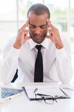 Stressed and tired. Stock Photos