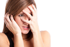 Stressed woman Stock Photography