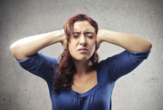Stressed Woman Royalty Free Stock Photo