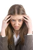 Stressed woman Stock Images