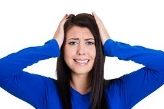 Stressed woman Royalty Free Stock Photos