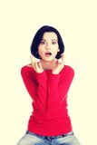 Stressed woman is going crazy in frustration. Royalty Free Stock Image
