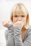 stressed woman young Στοκ Εικόνες