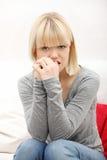 stressed woman young Στοκ φωτογραφία με δικαίωμα ελεύθερης χρήσης