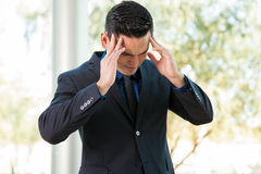 Stressed about work Royalty Free Stock Images