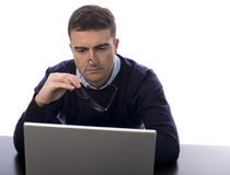 Stressed worker Stock Image