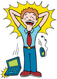 Stressed Worker. Worker is overwhelmed by projects Stock Photography
