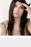 Stressed working woman Royalty Free Stock Photo