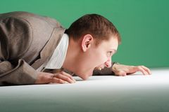 Stressed young business man Stock Photo