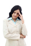Stressed young business woman Royalty Free Stock Photography