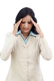Stressed young business woman Royalty Free Stock Image