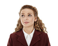 Stressed young businesswoman Stock Images