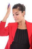 Stressed young bussinesswoman Stock Photography