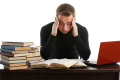 Stressed young man Stock Image