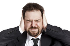 Stressed young man Stock Photos