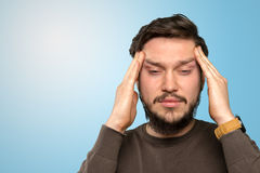 Stressed young man Stock Photography