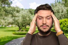Stressed young man Royalty Free Stock Images