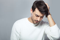 Stressed young man Royalty Free Stock Photography