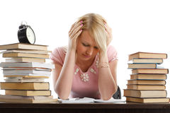 Stressed young woman Stock Photos