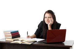 Stressed young woman Stock Photography