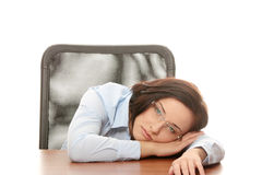 Stressed young woman Stock Image