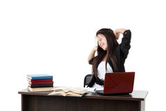Stressed young woman Royalty Free Stock Images