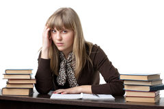 Stressed young woman Royalty Free Stock Photos