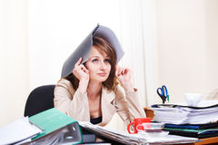 Stressed young woman Royalty Free Stock Photo