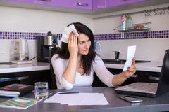 Stressed young woman Stock Photo