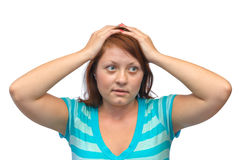 Stressed young woman Stock Images