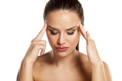 Stresses woman Stock Photography