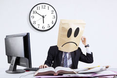 Stressful anonymous businessman in office 1 Royalty Free Stock Photo
