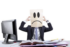 Stressful anonymous businessman in office 2 Royalty Free Stock Images
