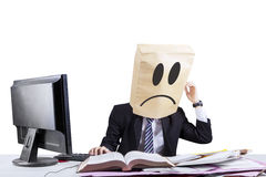 Stressful anonymous businessman in office 3 Stock Photography