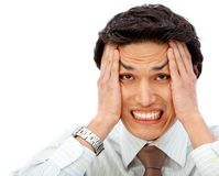 Stressful business man Royalty Free Stock Photography