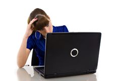 Stressful business woman Royalty Free Stock Images